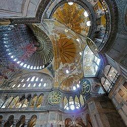 Внутренний вид сводов собора - Собор Святой Софии в Константинополе (Стамбул,Турция).jpg