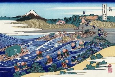 ВИд на гору Фудзи из Каная - Коцусика Хокусай.jpg