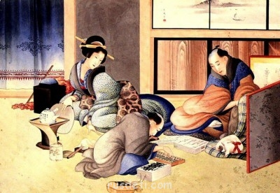 Япония - Кацусика  Хокусай  Чайная церемония.jpg