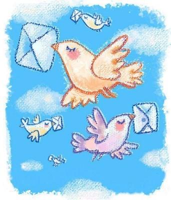 Письмецо в конверте  - птички.jpg