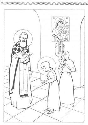 Православные раскраски  - Матронушка2.jpg