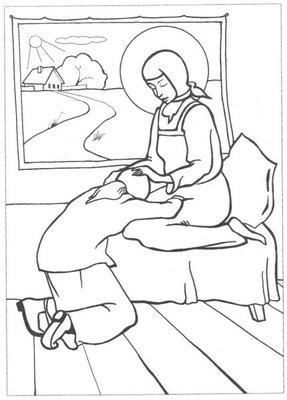 Православные раскраски  - Матронушка3.jpg