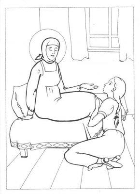 Православные раскраски  - Матронушка4.jpg