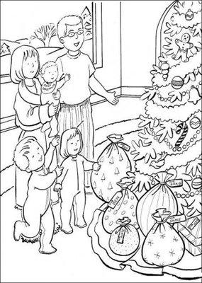 Православные раскраски  - Семья у елки.jpg